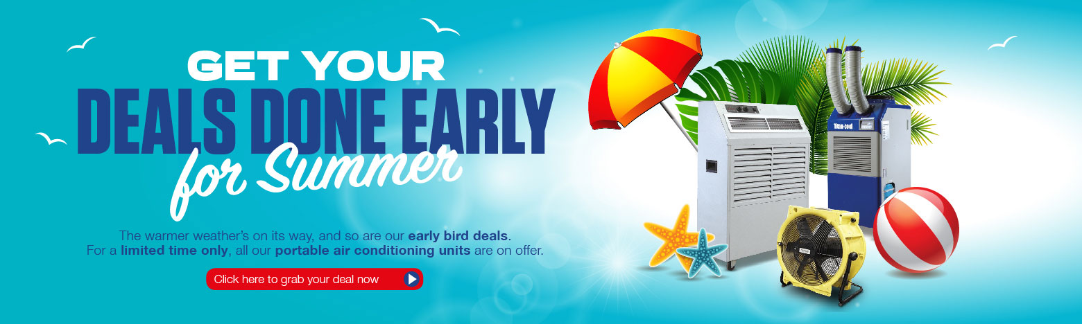 Summer offer on portable air conditioning units